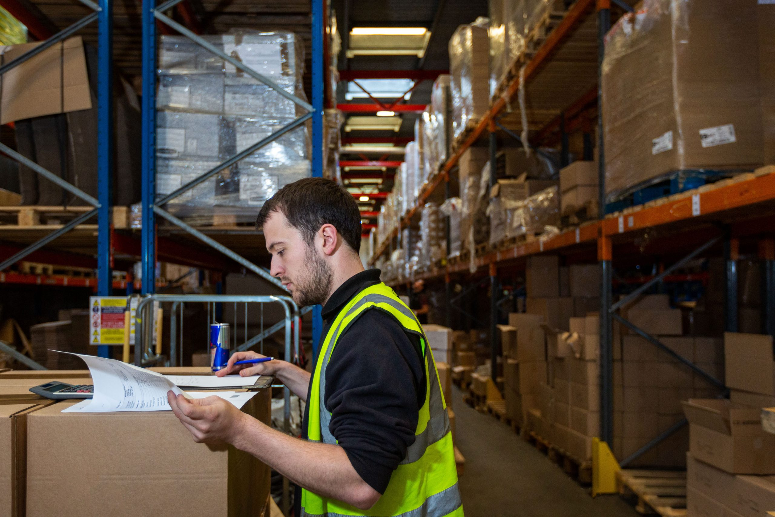 checking warehouse stock