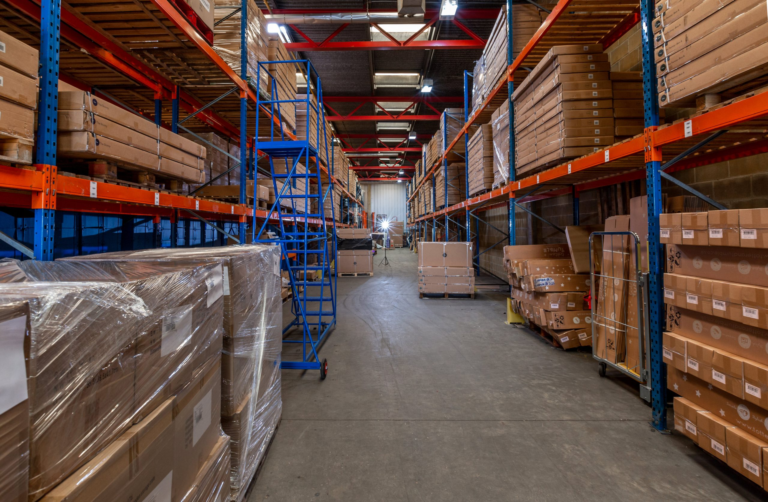 inside our surrey warehouse